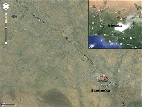 Map of Saminaka