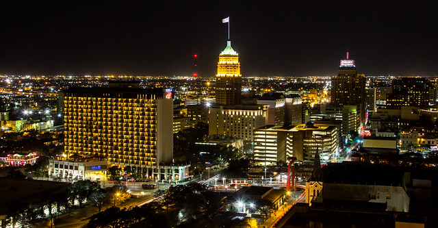Downtown San Antonio Night Shot