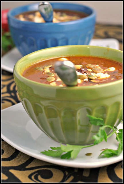 Black Bean Soup with Roasted Poblano Chiles 1