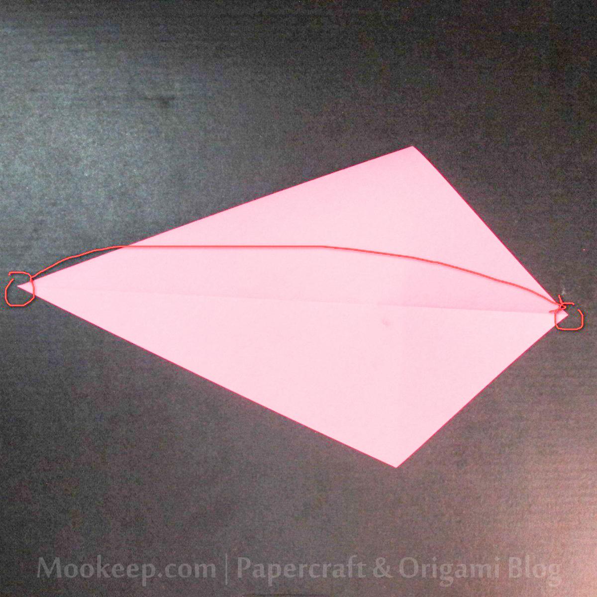 สอนวิธีการพับกระดาษเป็นรูปเป็ด (Origami Duck) - 005.jpg