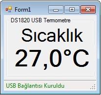 Pic18F4550 ile USB Termometre