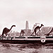 Sinclair Dinosaurs off to the 1964 New York World's Fair