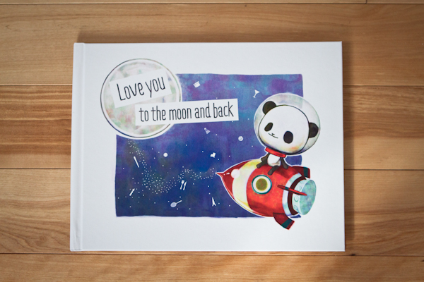 love you to the moon and back Front