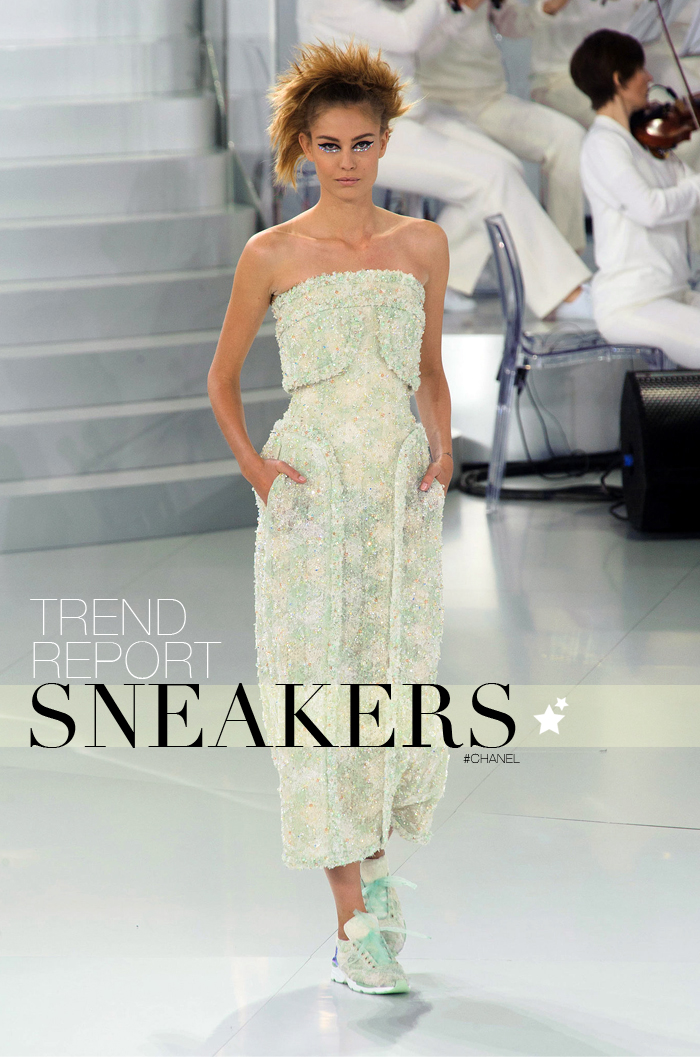 trend report barbara crespo sneakers trends fashion blogger outfits designers chanel karl lagerfeld haute couture 2014 collections