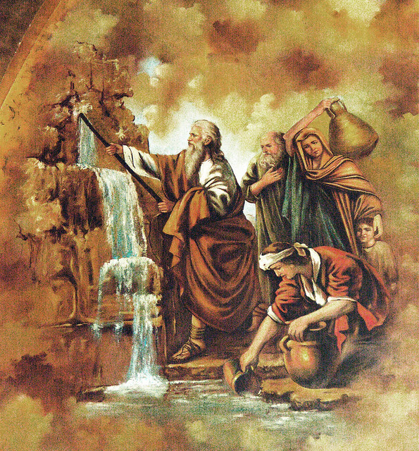 Moses Striking Water From The Rock Flickr Photo Sharing