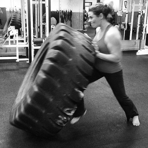 Gotta love Monsta Tires! I find it refreshing that the ladies at #precisionfitness seem to always want to challenge themselves with the tires! #tireflips #spartansgx #spartanrace #spartanracing #spartancoaches #spartanworkout #spartantraining