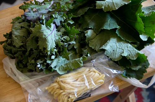Squirrel Hill Farmers Market: 2 kinds of kale + homemade pasta