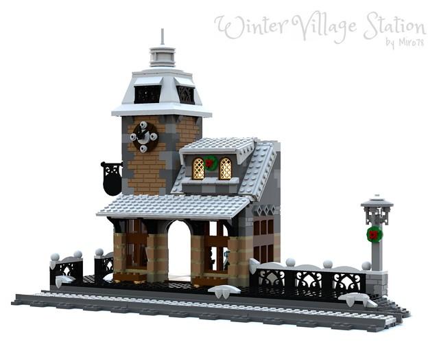 Lego Winter Village Train Station Instructions