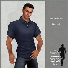 [PP Casuals] Men's Polo Shirt - Navy