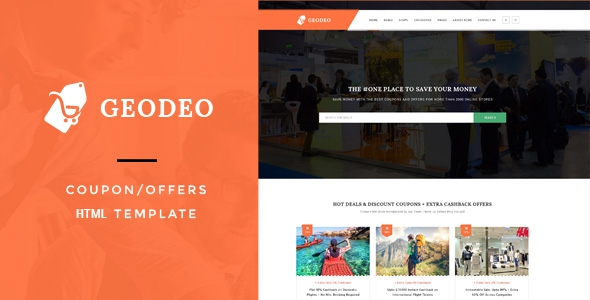 Geodeo v1.0 – Coupon & Deals HTML Template