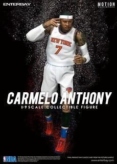ENTERBAY – NBA 系列【卡梅羅.安東尼】甜瓜 Carmelo Anthony 1/9 比例人偶作品
