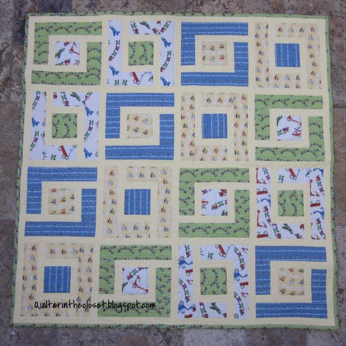 Jungle Path, a baby boy quilt