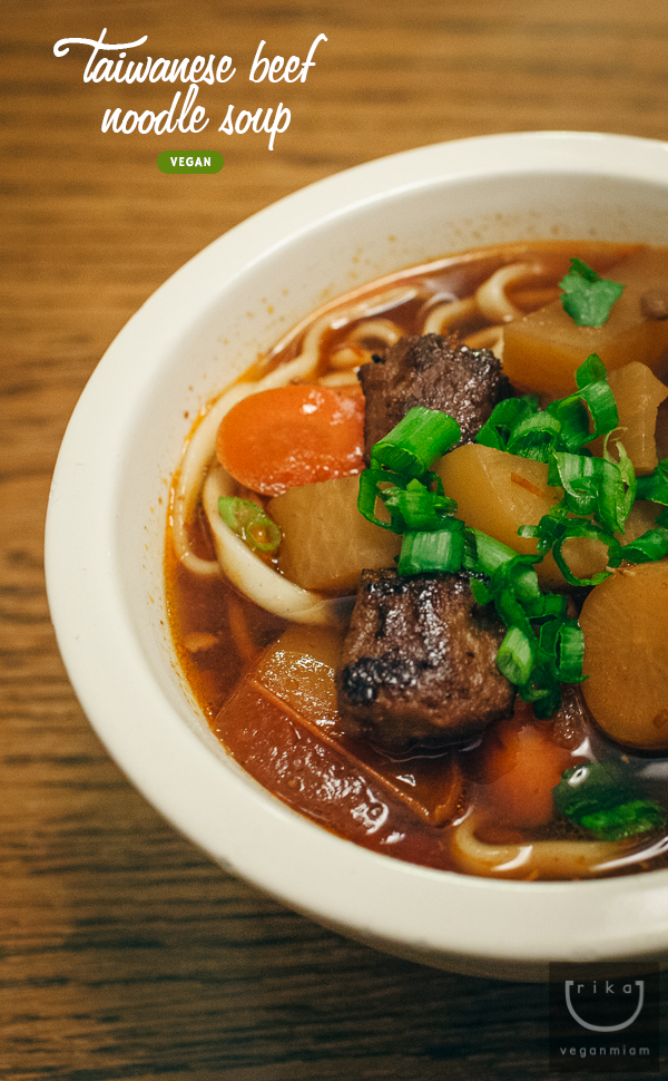 Vegan Taiwanese Beef Noodle Soup