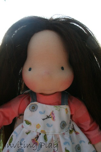 "Rosie of the Northwoods 12"" handmade natural cloth doll"