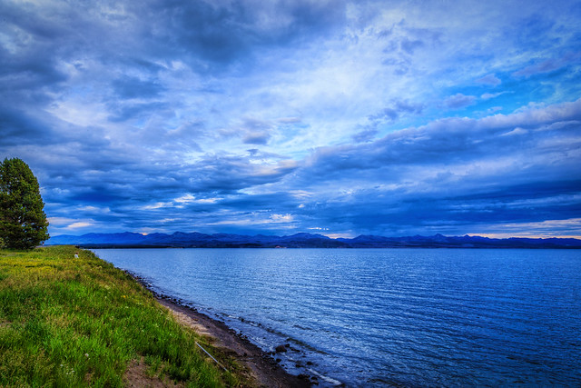 Yellowstone Lake at Dusk