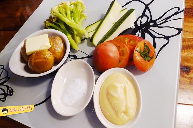 kitchen tachikichi - fresh vegetables with miso mayo