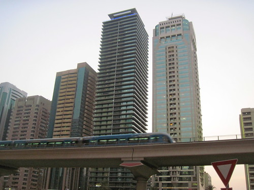 Dubai Metro Evening