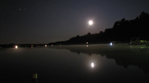 Bass Lake at Midnight