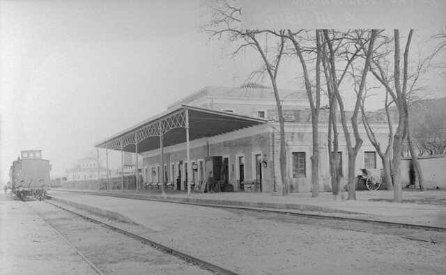 Antigua estación de ferrocarril de Toledo el 4 de marzo de 1914. © Archivo Histórico Ferroviario del Museo del Ferrocarril de Madrid. Fotografía de F. Salgado. Signatura 3489-IF MZA 0-7