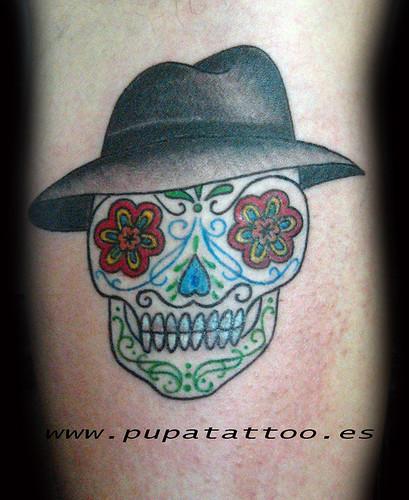 Tatuaje Calavera Pupa Tattoo Granada by Marzia PUPA Tattoo
