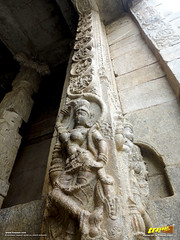 Fine scuptures and designs on the Main entrance to Veerabhadra Swamy Temple at Lepakshi, in Andhra Pradesh, India