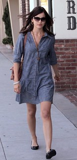 Camilla Belle Denim Dress Celebrity Style Women's Fashion