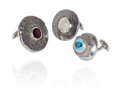 Red White And Blue Cufflink Trio