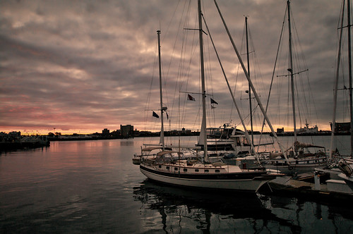 sky boston sailboat marina sunrise boats harbor day cloudy massachusetts coastal charlestown topaz