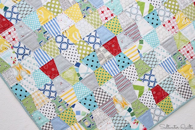 Tumbler Quilt | For the Birds | © Saltwater Quilts 2013