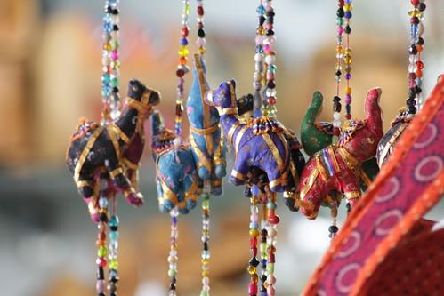Elephant and camel curtain in Mubarkiya market