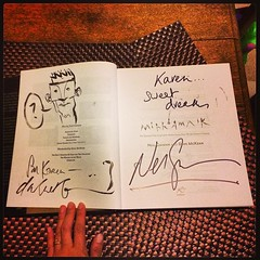 My Mirrormask book has now been signed by both neilhimself and davemckean