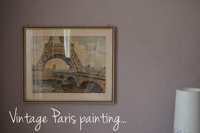 Vintage Paris painting