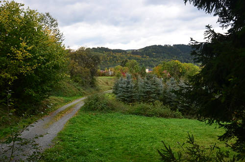 Am Ende des Wegs liegt das Dorf Zeyern