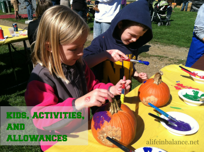 Kids, Activities and Allowances