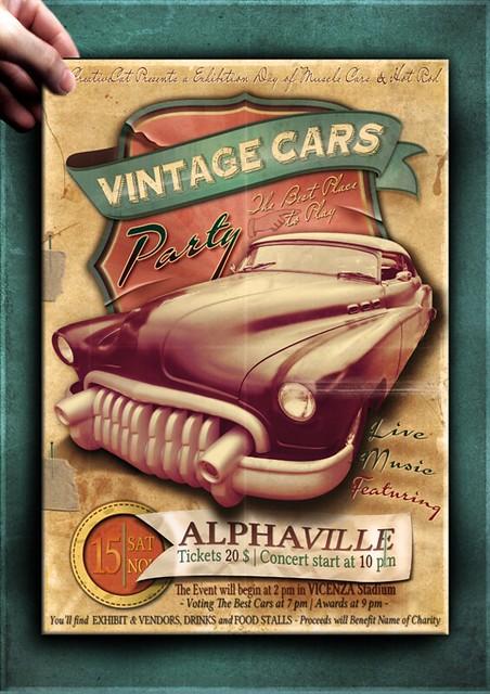 Vintage Car Flyer Poster Template Vol7   Flickr - Photo Sharing!