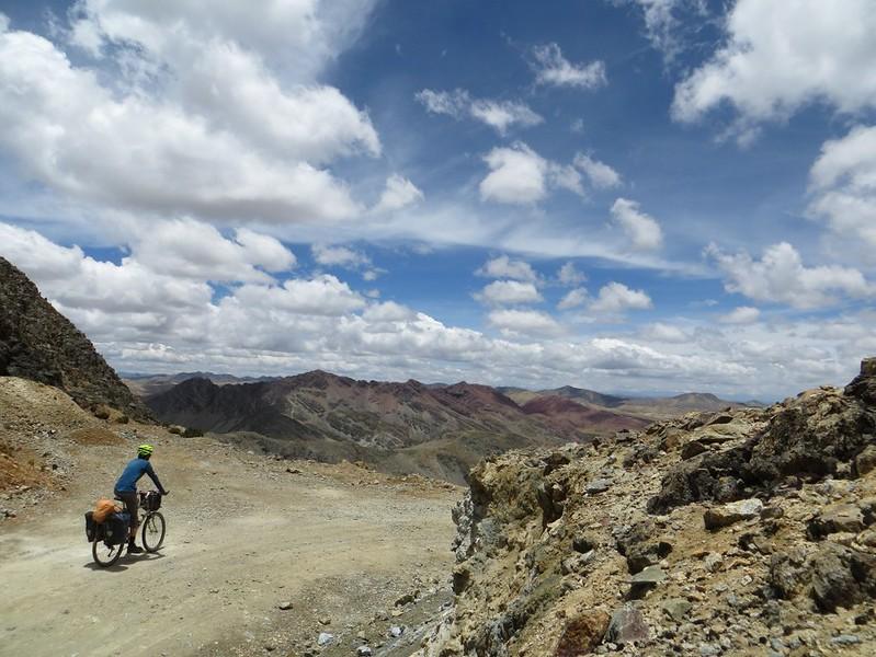 Beginning the descent from Punta Pumacocha