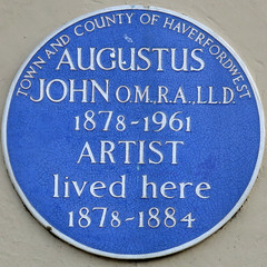 Photo of Augustus John blue plaque