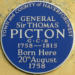 Photo of Thomas Picton blue plaque