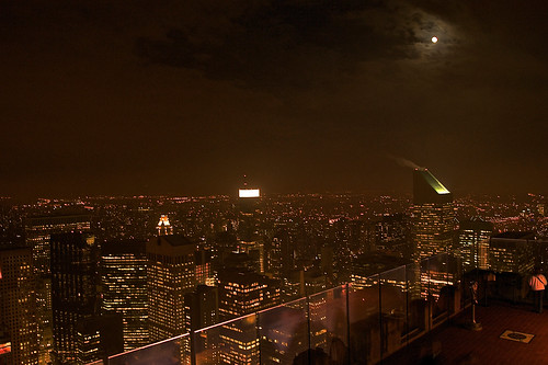 Moonlit NY skyline