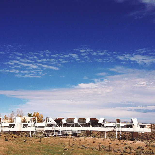 The Snake House by architect Bart Prince, right next to the Rio Rancho #classicalconversations campus! #newmexico