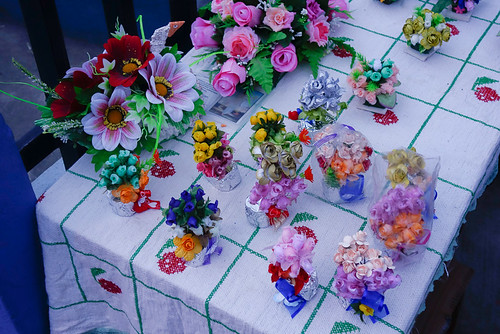Flowers at the Otavalo Cemetary | Day of the Dead in Ecuador