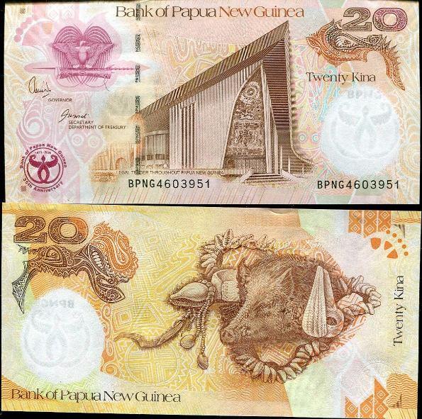 20 Kina Papua Nová Guinea 2008, pamätná, Pick 36
