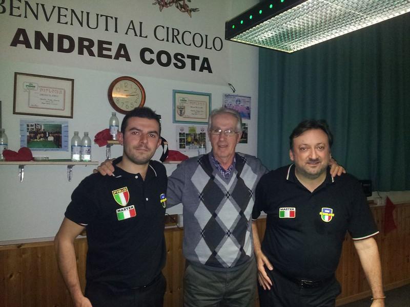 Da Sinistra Valentino Cristofori, Presidente Circolo A. Costa, Enrico Rosa