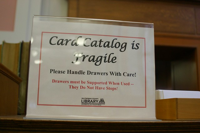 Card catalog is fragile