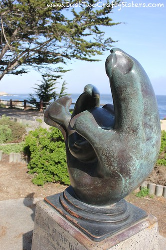 Seal statue in Monterey