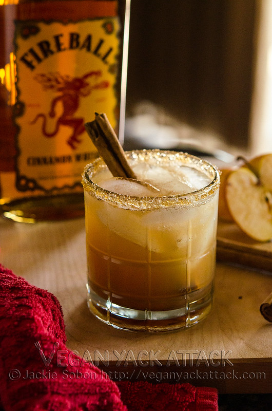 A festive, boozy treat that's spicy, cool and easy-to-make. Apple Pie on the Rocks! Plus, a recap of my vegan Thanksgiving.