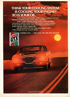 1971 Castrol GTX Motor Oil Advertising Road & Track June 1971