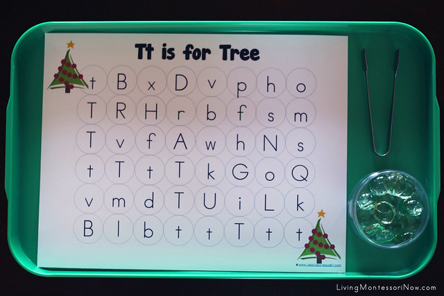 Tt is for Tree Alphabet Maze