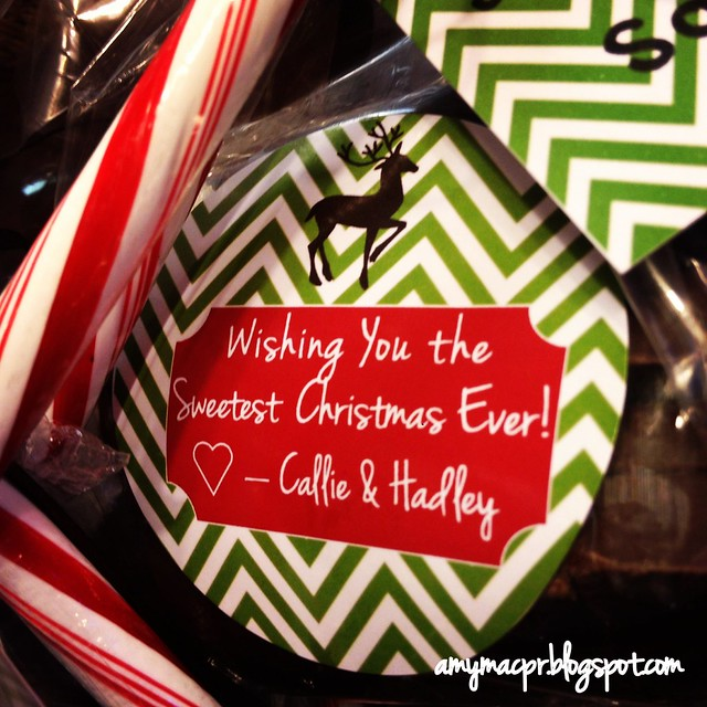 Chevron Christmas Label