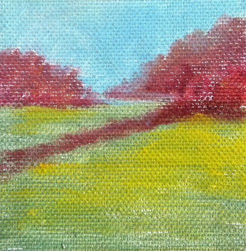Spring Field (Mini-Painting) by randubnick